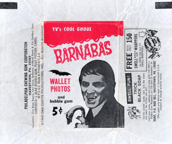 574 dark shadows gum cards red series wrapper