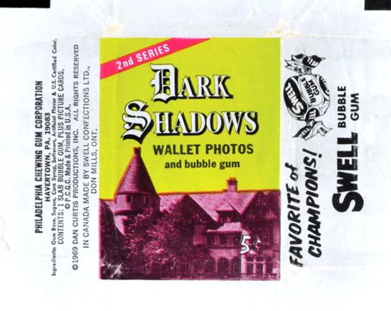 822 dark shadows green gum cards package