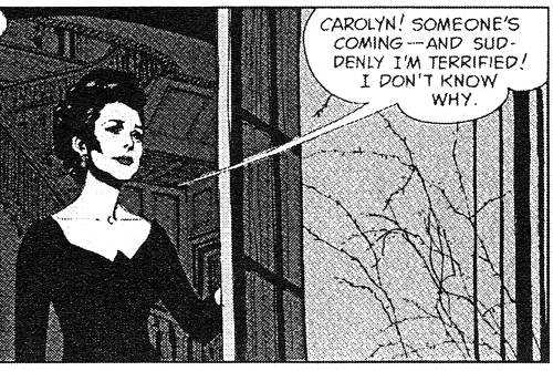 dark shadows comic strip 1 liz terrified