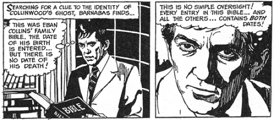dark shadows comic strip 2 barnabas vibrations