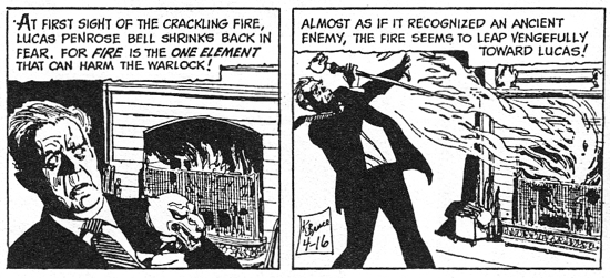 dark shadows comic strip 2 crackling