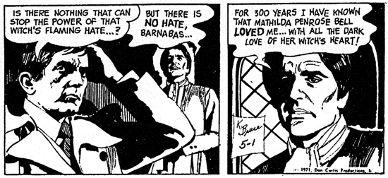 dark shadows comic strip 2 flaming hate
