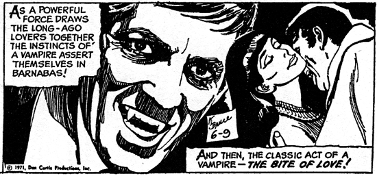 dark shadows comic strip 3 bite of love