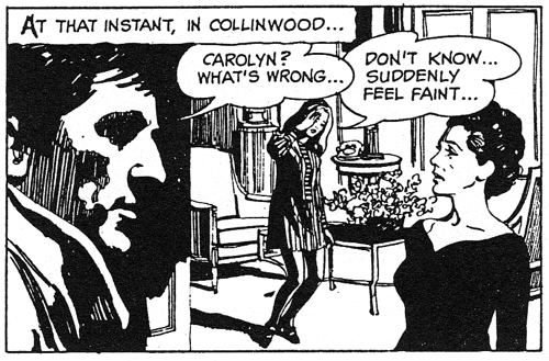 dark shadows comic strip 3 faint