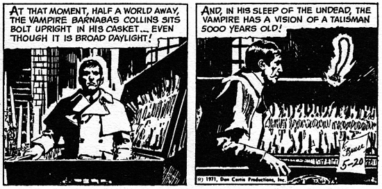 dark shadows comic strip 3 wake up