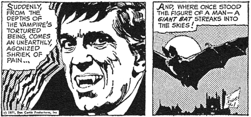 dark shadows comic strip 4 barnabas bat