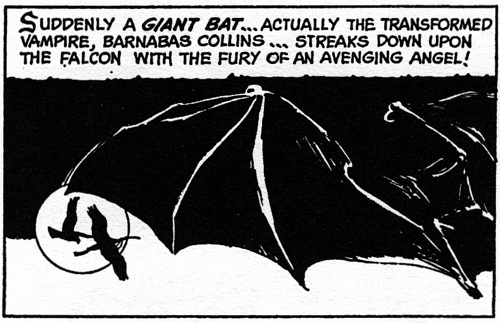 dark shadows comic strip 4 giant bat