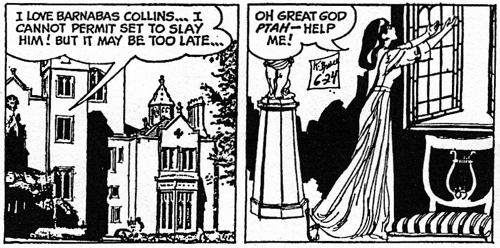 dark shadows comic strip 4 ptah again