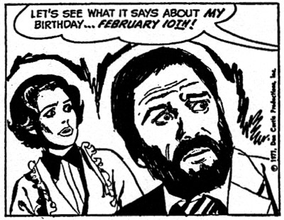 dark shadows comic strip 5 birthday