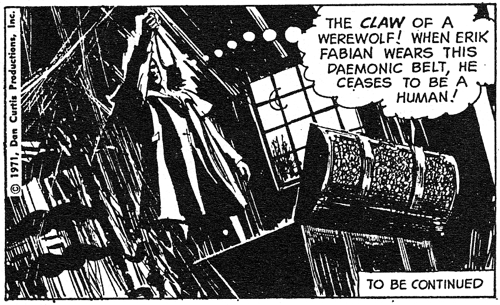 dark shadows comic strip 5 claw