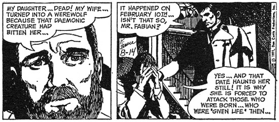 dark shadows comic strip 5 daughter dead