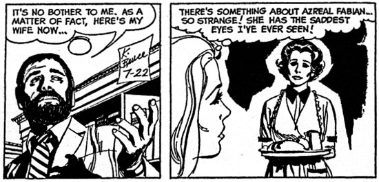dark shadows comic strip 5 saddest eyes