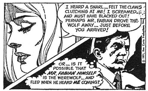 dark shadows comic strip 5 split screen