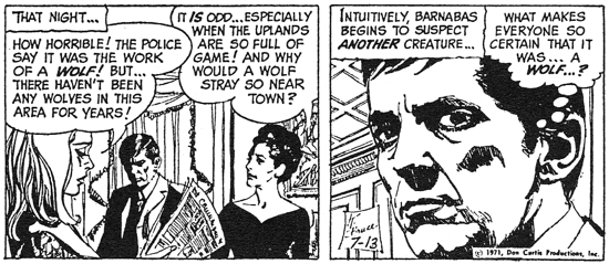 dark shadows comic strip 5 sure