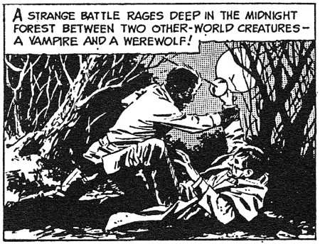 dark shadows comic strip 5 vampire werewolf
