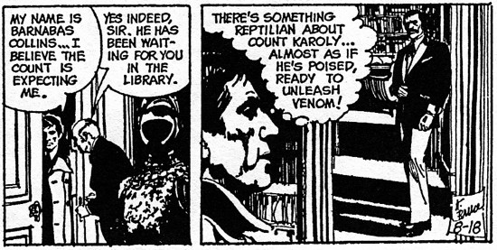 dark shadows comic strip 5 venom