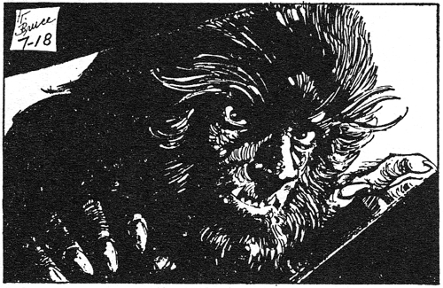 dark shadows comic strip 5 werewolf face