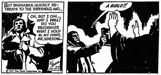 dark shadows comic strip 7 a bible