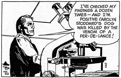 dark shadows comic strip 8 microscope