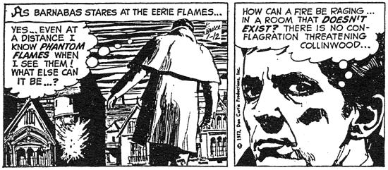 dark shadows comic strip 9 fire
