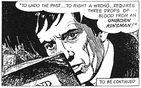 dark shadows comic strip 10 unborn kinsman