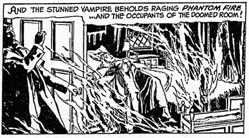 dark shadows comic strip 9 phantom fire