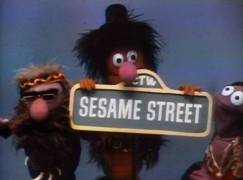 881 sesame street hippies sign