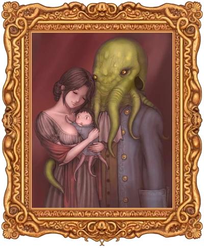 892 cthulhu family portrait